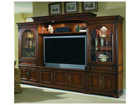 Hooker Furniture Brookhaven Distressed Medium Cherry 142''L x 27''W Entertainment Center HOO28170222