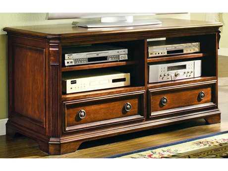 Hooker Furniture Brookhaven Distressed Medium Cherry 52''L x 23''W Rectangular Entertainment Console
