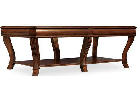 Hooker Furniture Brookhaven Distressed Medium Clear Cherry 54''L x 32''W Rectangular Cocktail Table HOO28180110