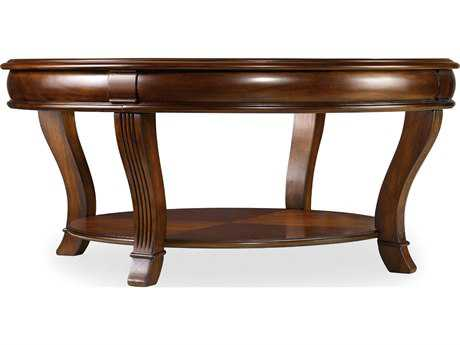 Hooker Furniture Brookhaven Distressed Medium Clear Cherry 42'' Wide Round Cocktail Table HOO28180111