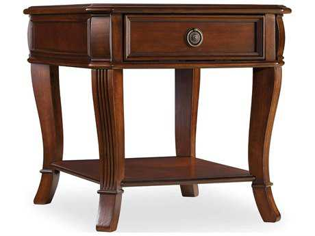 Hooker Furniture Brookhaven Distressed Cherry 24''L x 28''W Rectangular End Table
