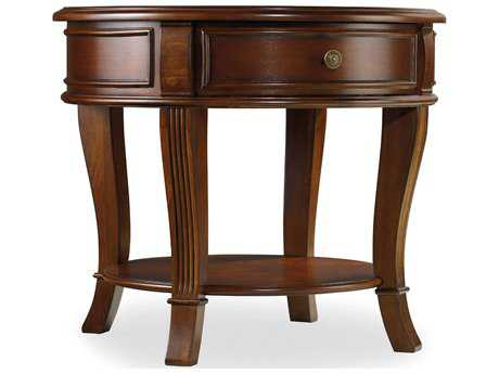 Hooker Furniture Brookhaven Distressed Cherry 28'' Wide Round Lamp End Table HOO28180116