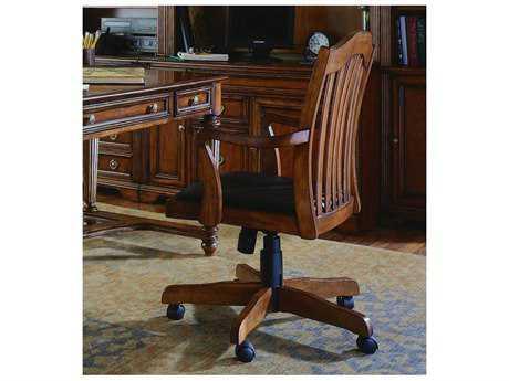 Hooker Furniture Brookhaven Distressed Medium Cherry Executive Swivel Chair