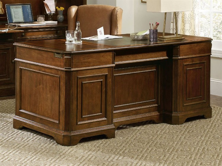 Warm Cherry Executive Desk Home Office Collection: Hooker Furniture Brookhaven Distressed Medium Cherry 72''L
