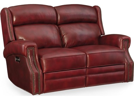 Hooker Furniture Carlisle Red Power Motion Loveseat with Power Headrest
