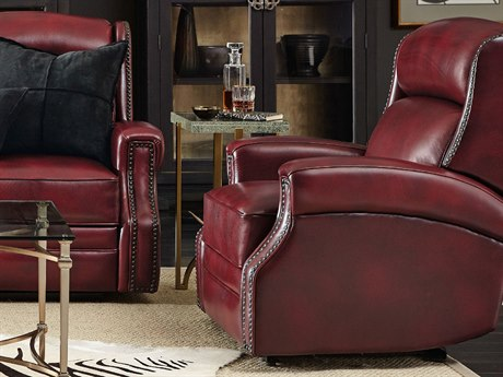 Hooker Furniture Carlisle Red Power Recliner with Power Headrest