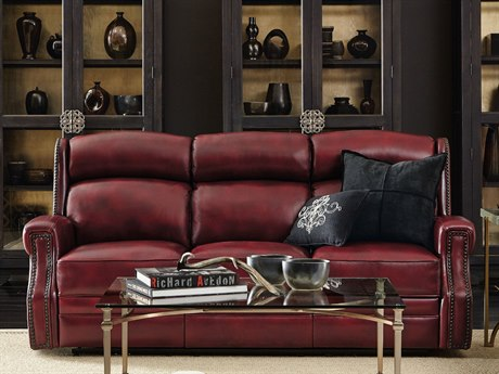 Hooker Furniture Carlisle Red Power Motion Sofa with Power Headrest