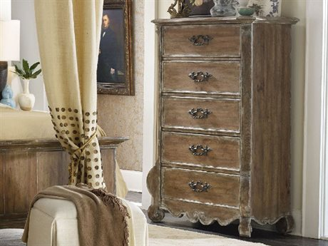 Hooker Furniture Chatelet Pecky Pecan 45''W x 21''D Rectangular Chest of Drawers