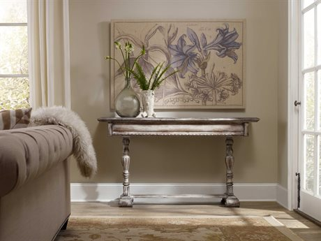 Hooker Furniture Chatelet Whites, Creams & Beige 60''L x 15''W Rectangular Console Table