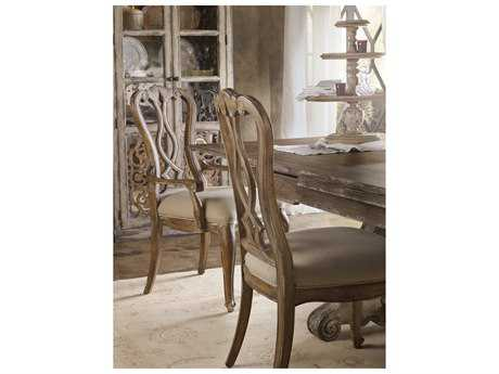 Hooker Furniture Chatelet Pecky Pecan Veneers Are Warmed By A Soft Amber Color And Touch Of Aged White Paint To Highlight Distinctive Grains Moldings In The Caramel Froth Finish. Side Dining Chair HOO530075410