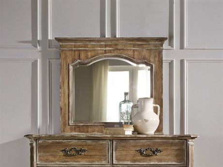 Hooker Furniture Chatelet Pecky Pecan 46''W x 40''H Rectangular Dresser Mirror HOO530090006