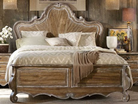 Hooker Furniture Chatelet Pecky Pecan King Size Panel Bed HOO530090266