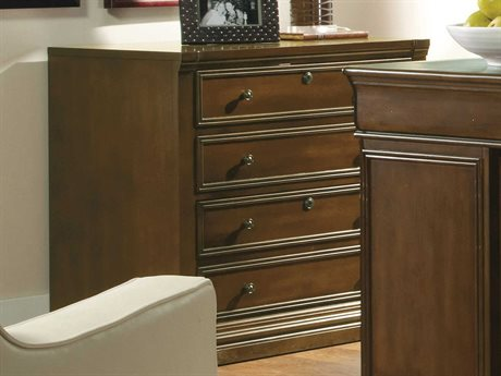 Hooker Furniture Cherry Creek Lightly Distressed Clear Medium Brown File Cabinet
