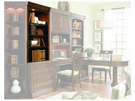 Hooker Furniture Cherry Creek Lightly Distressed Medium Brown Open Hutch