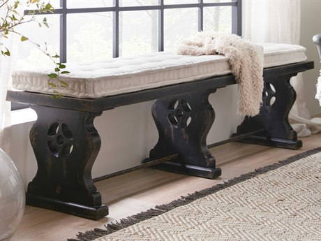 Hooker Furniture Ciao Bella Tuscan White / Black Accent Bench