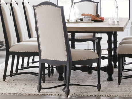 Hooker Furniture Ciao Bella Tuscan White / Black Arm Dining Chair (Sold in 2)