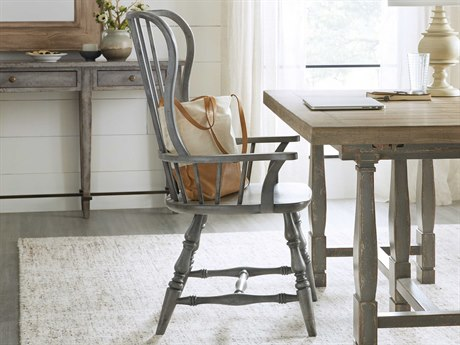 Hooker Furniture Ciao Bella Gray Arm Dining Chair (Sold in 2)