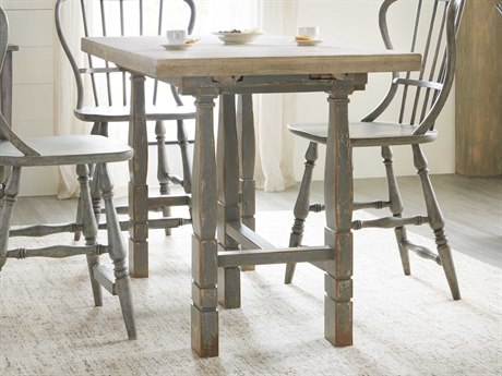 Hooker Furniture Ciao Bella Natural / Gray 60-84'' Wide Rectangular Adjustable Dining Table with Extension HOO58057520685