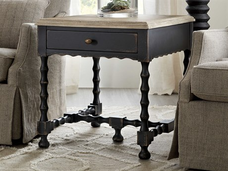 Hooker Furniture Ciao Bella Black 24'' Wide Square End Table