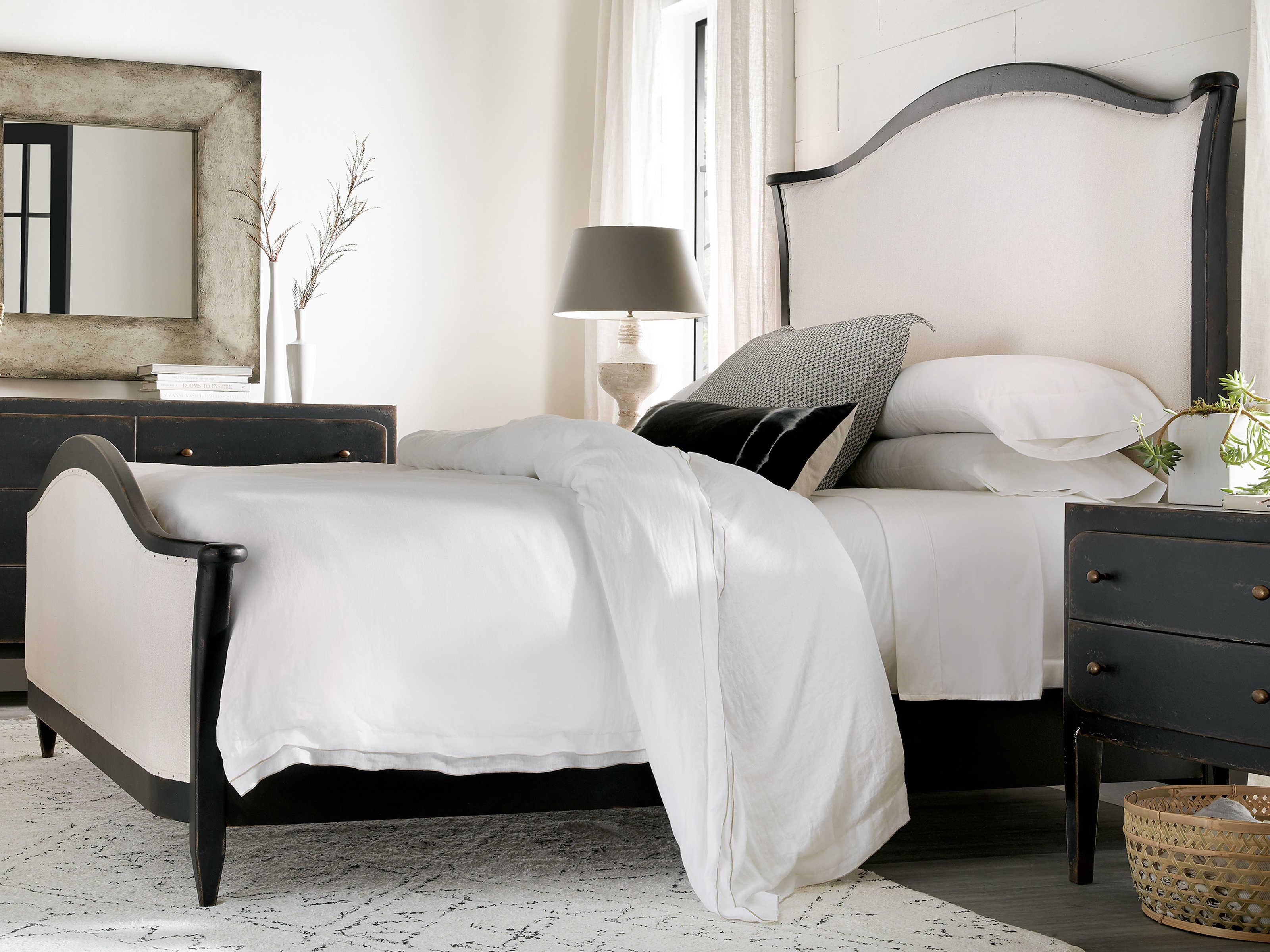 Hooker Furniture Ciao Bella Tuscan White Black California King Panel Bed Hoo58059086099
