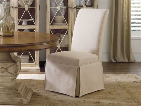 Hooker Furniture Clarice Skirted Jade White Dining Side Chair HOO20036036