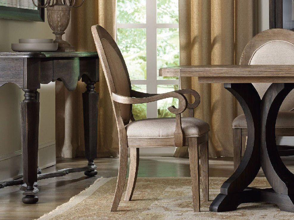 Hooker Furniture Corsica Oval Back Light Wood Dining Arm Chair Sold In 2 Hoo518075402