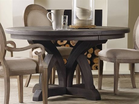 Hooker Furniture Corsica Dark Wood 54''Wide Round Dining Table HOO528075203