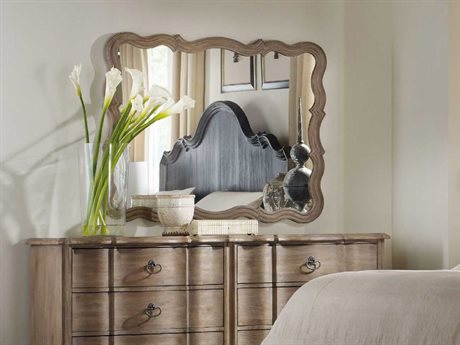 Hooker Furniture Corsica Light Wood 37''W x 47''H Rectangular Landscape Wall Mirror