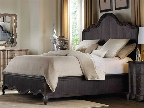 Hooker Furniture Corsica Dark Wood King Size Panel Bed