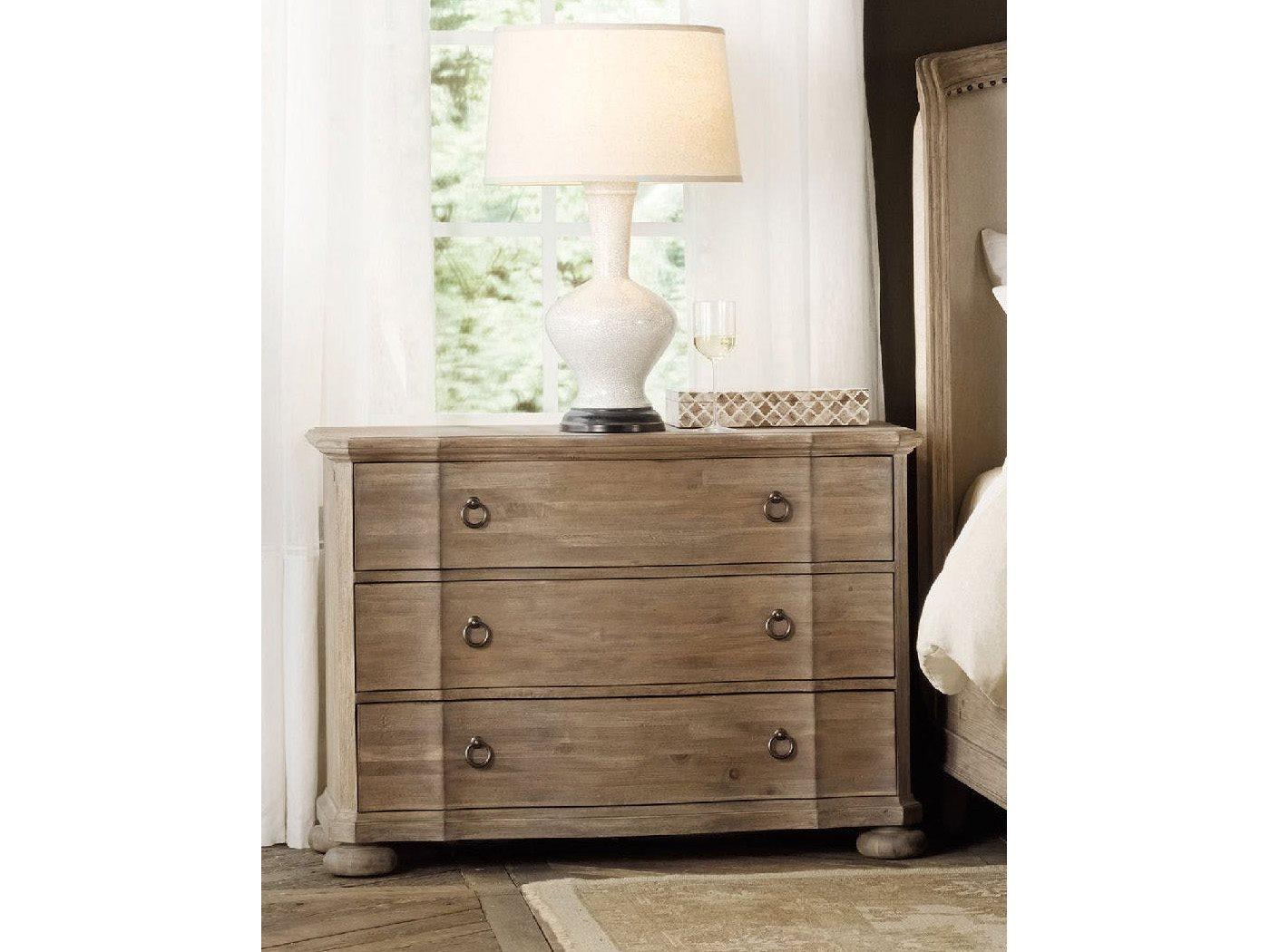 Hooker Furniture Corsica Light Wood 42 W X 19 D Rectangular Bachelor Chest Nightstand Hoo518090017