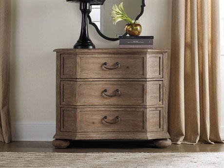 Hooker Furniture Corsica Light Wood 40''W x 19''D Rectangular Bachelor Chest Nightstand