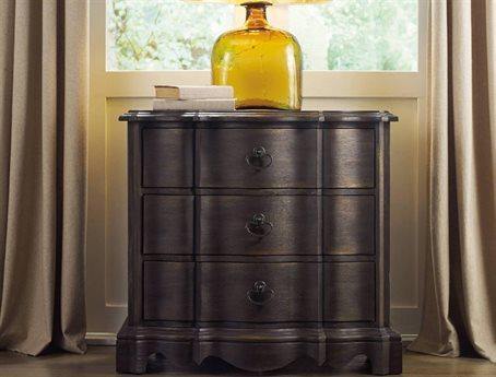 Hooker Furniture Corsica Dark Wood 32''W x 18''D Rectangular Nightstand