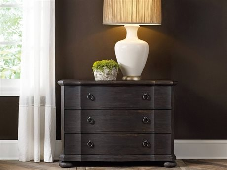 Hooker Furniture Corsica Dark Wood 42''W x 19''D Rectangular Bachelor Chest Nightstand