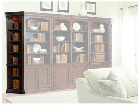 Hooker Furniture Cherry Creek Lightly Distressed Clear Medium Brown Bookcase