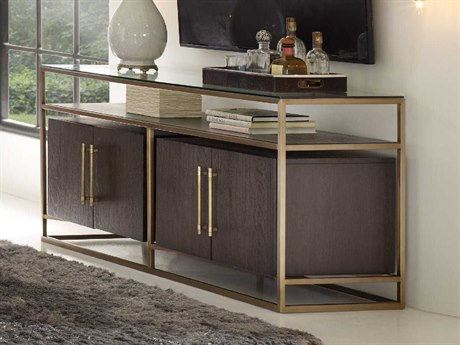Hooker Furniture Curata Midnight 66''W x 20''D Rectangular Entertainment Console