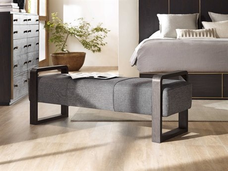 Hooker Furniture Curata Edward Graphite with Midnight Accent Bench