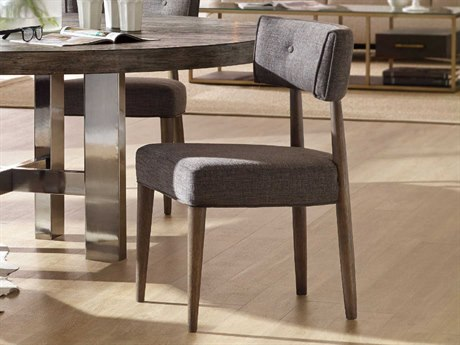 Hooker Furniture Curata Edward Graphite With Medium Greige Side Dining Chair HOO160075510MWD