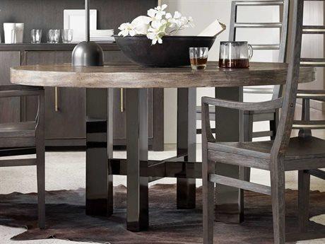 Hooker Furniture Curata Medium Greige with Black Nickel 60'' Wide Round Dining Table HOO160075201MWD