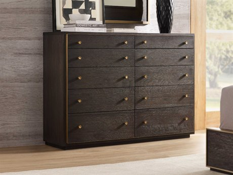 Hooker Furniture Curata Midnight with Brushed Brass Ten-Drawers Double Dresser HOO160090011DKW