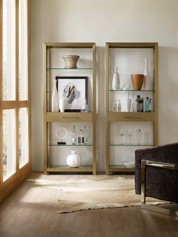 Hooker Furniture Curata Brushed Brass Bunching Etagere