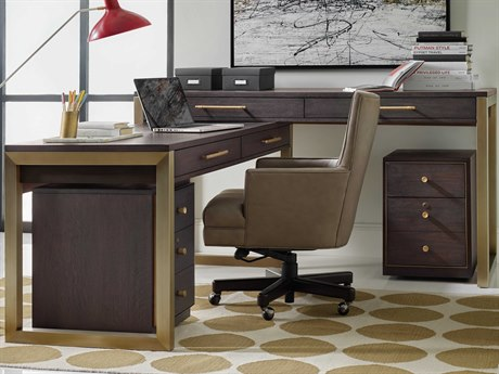 Hooker Furniture Curata Midnight 68''W x 26''D Rectangular L-Shaped Desk