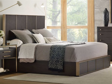 Hooker Furniture Curata Midnight with Brushed Brass Queen Size Platform Bed HOO160090250DKW