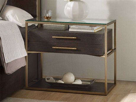 Hooker Furniture Curata Glass With Midnight & Brushed Brass 1 Drawer Nightstand HOO160090016DKW
