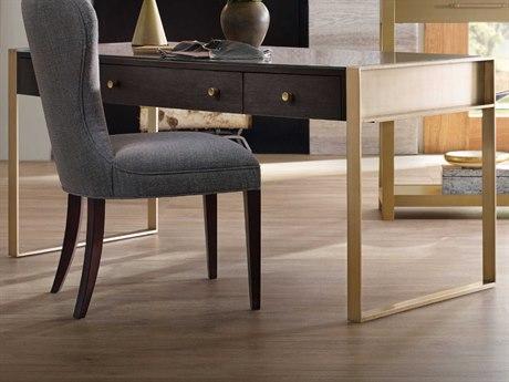 Hooker Furniture Curata Midnight with Glass 66''W x 28''D Rectangular Writing Desk HOO160010458DKW