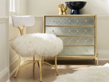 Hooker Furniture Cynthia Rowley Ivory with Gold Swanson Swanson Accent Chair HOO158675410DGLD6