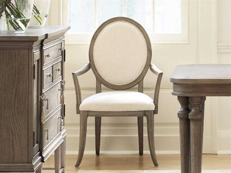 Hooker Furniture Cynthia Rowley Cream with Gray Dining Arm Chair (Sold in 2)