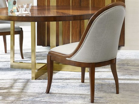 Hooker Furniture Cynthia Rowley Dove with Medium Wood Front Row Sling Back Dining Side Chair (Sold in 2)