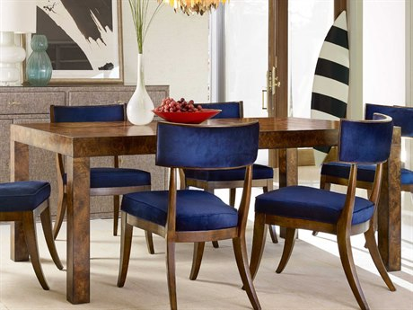 Hooker Furniture Cynthia Rowley Mappa Burl 78'' - 118''L x 42''W Rectangular Long Board Dining Table with 2-20 Inch Leaves HOO158675200BBRN