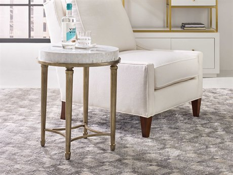 Hooker Furniture Cynthia Rowley Mother Of Pearl With Champagne Round End Table