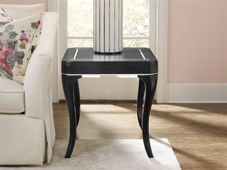 Hooker Furniture Cynthia Rowley Black with Mother of Pearl Inlay 28''L x 24''W Rectanglar Flirt End Table